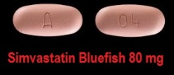 Simvastatin Bluefish 80 mg tabletter